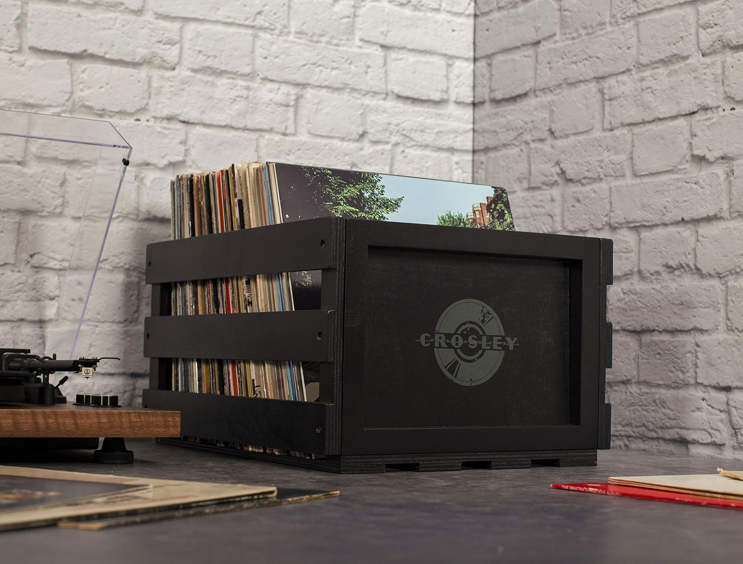Crosley AC1004A-BK Record Storage Crate Holds up to 75 Albums, Black by Crosley (Image #6)