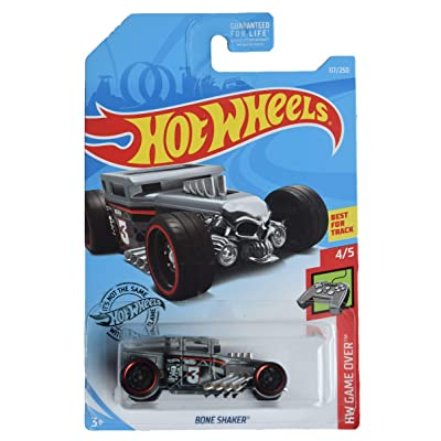 Hot Wheels Game Over Series 4/5 Bone Shaker 117/250, Gray: Toys & Games
