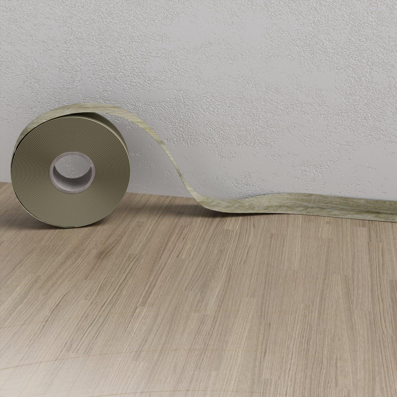 Weichsockelleiste Hellgrau 5m Sockelleisten PVC selbstklebend Scheuerleiste Knickwinkel 52mm
