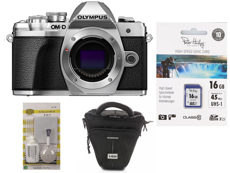 OM-D E-M10 III Carcasa Plata + fotográfico funda + 16 GB SDHC ...
