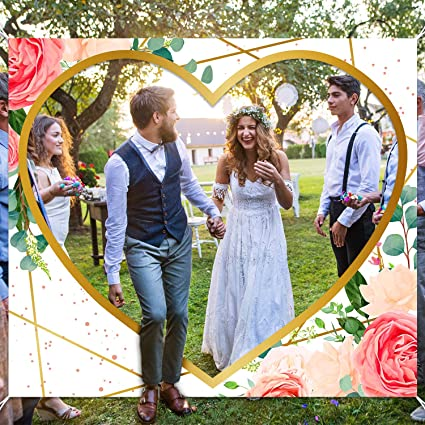 Amazon Com Just Married Banner Wedding Backdrop Fun Wedding Game Decoration For Bride And Groom Wedding Party Banner Backdrop Photo Props Toys Games