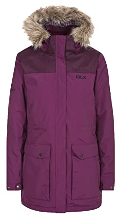 eb189238e35a DLX Garner, Blackberry, M, Waterproof Jacket with Removable Hood &  Removable Fake Fur