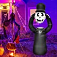 Inflatable Halloween Decorations Outdoor - 6 Ft Tall Skull Skeletons Ghost Grim Reaper Blow Up Yard Decoration Clearance with