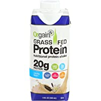 12-Pack Orgain Grass Fed 11 Ounce Protein Shake