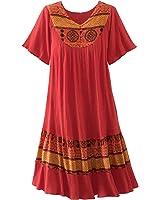 National Santa Fe Border Print Dress