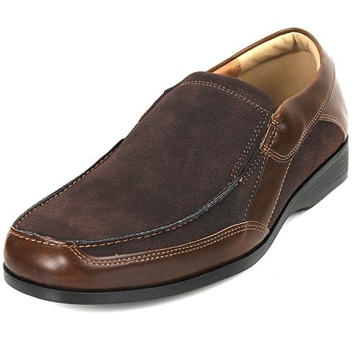 Nueva tendencia Fashion para hombre Casual vestido hombre Slip On Zapatos, multicolor, color Marrón, talla 40: Amazon.es: Zapatos y complementos