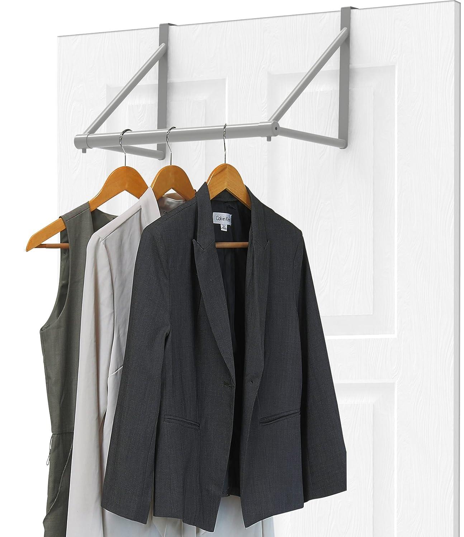 Simple Houseware Over The Door Closet Rod Hanger, Sliver