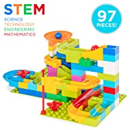 Best Choice Products 97-Piece Kids Create Your Own Marble Run Set with 4 Balls