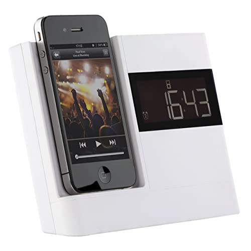 KitSound XDOCK Clock Radio Dock for 30-Pin Connector iPod and iPhone 4S/4/3GS/3G, iPod Nano 5th Generation and iPod Touch 4th Generation - White