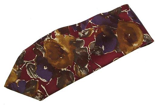 iAuctionShop - Corbatas de Seda para Hombre, diseño Floral Granate ...