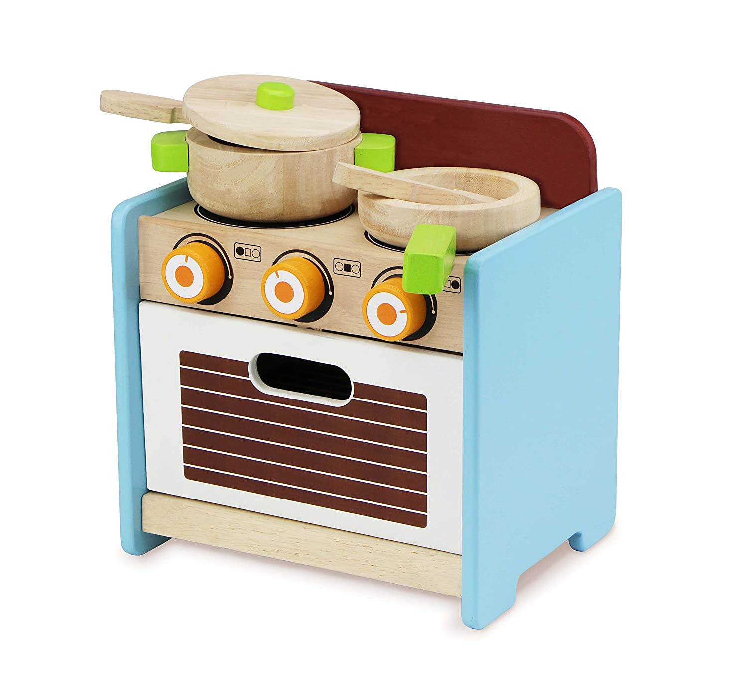 Amazon com wonderworld little stove oven pretend play toy with accessories toys games