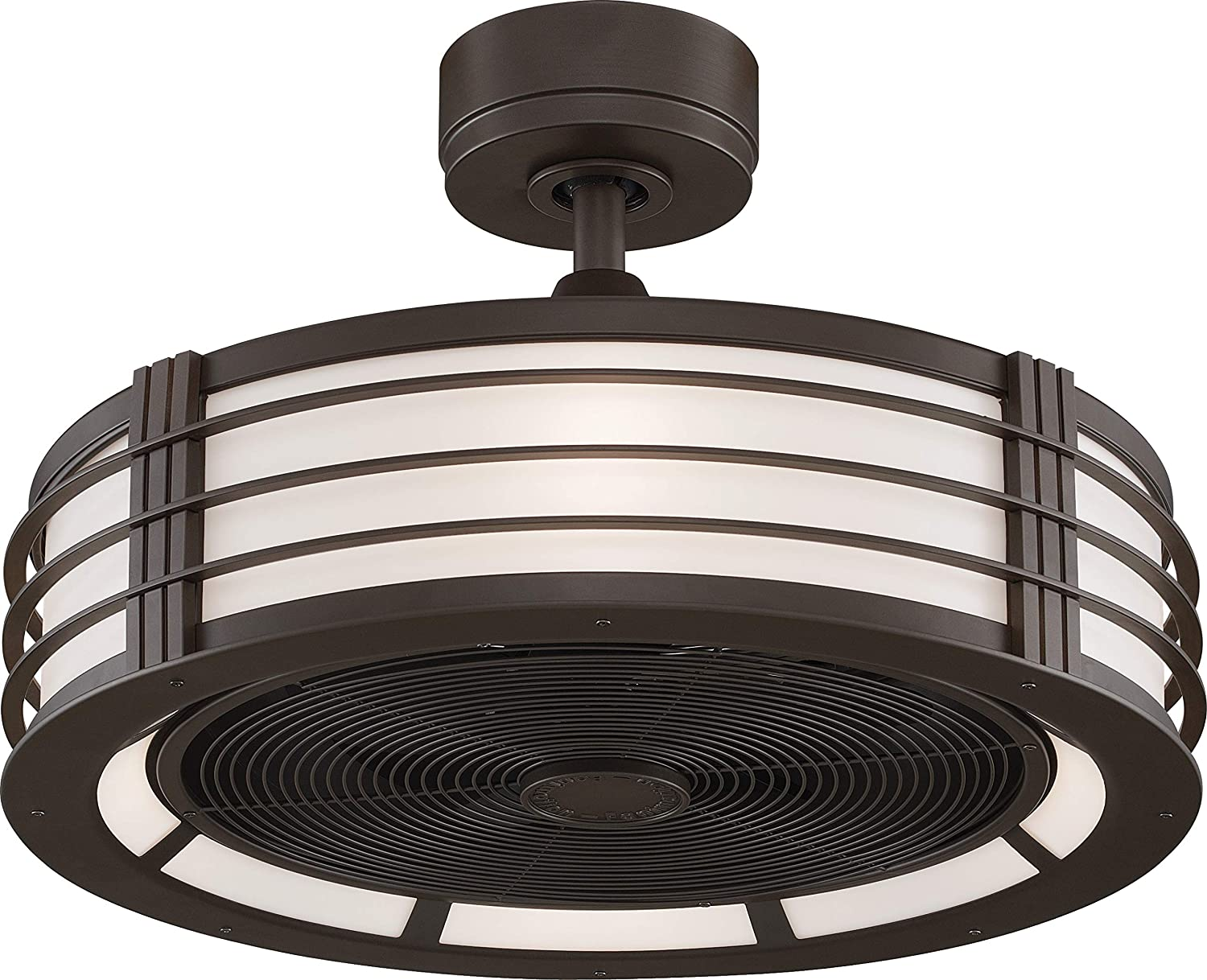 Fanimation FP7964BOB The Beckwith Ceilling Fan with Frosted Shade Light Kit and Remote Control, 23-Inch, Oil-Rubbed Bronze
