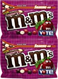 M&M's Chocolate Candy (2 Pack) Flavor Vote Crunchy Raspberry Sharing Size, 8 Ounce Bags