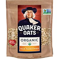 Quaker Old Fashioned Rolled Oats, USDA Organic, Non GMO Project Verified, 24oz Resealable...