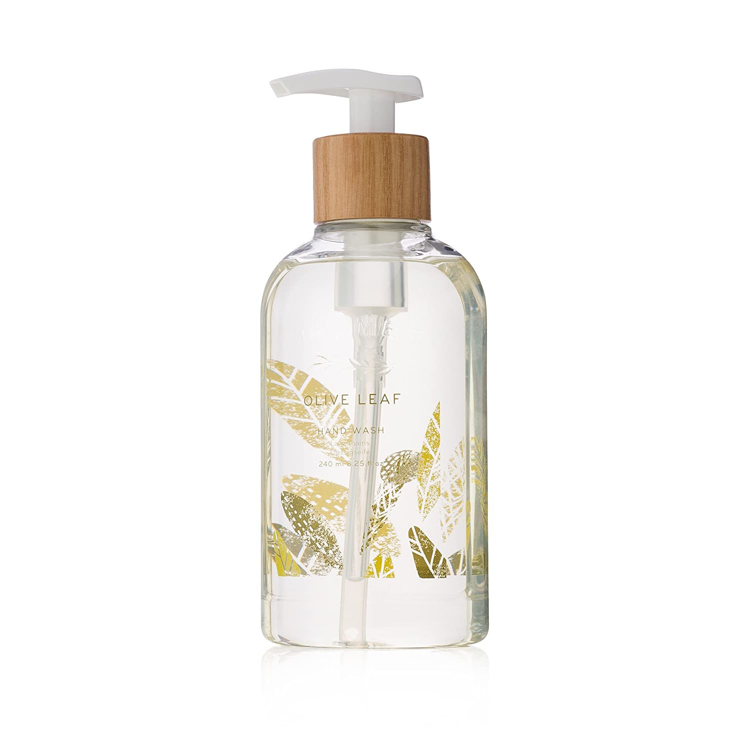 Thymes - Olive Leaf Hand Wash with Pump - Hydrating Liquid Hand Soap with Natural Olive Oil - 8.25 oz