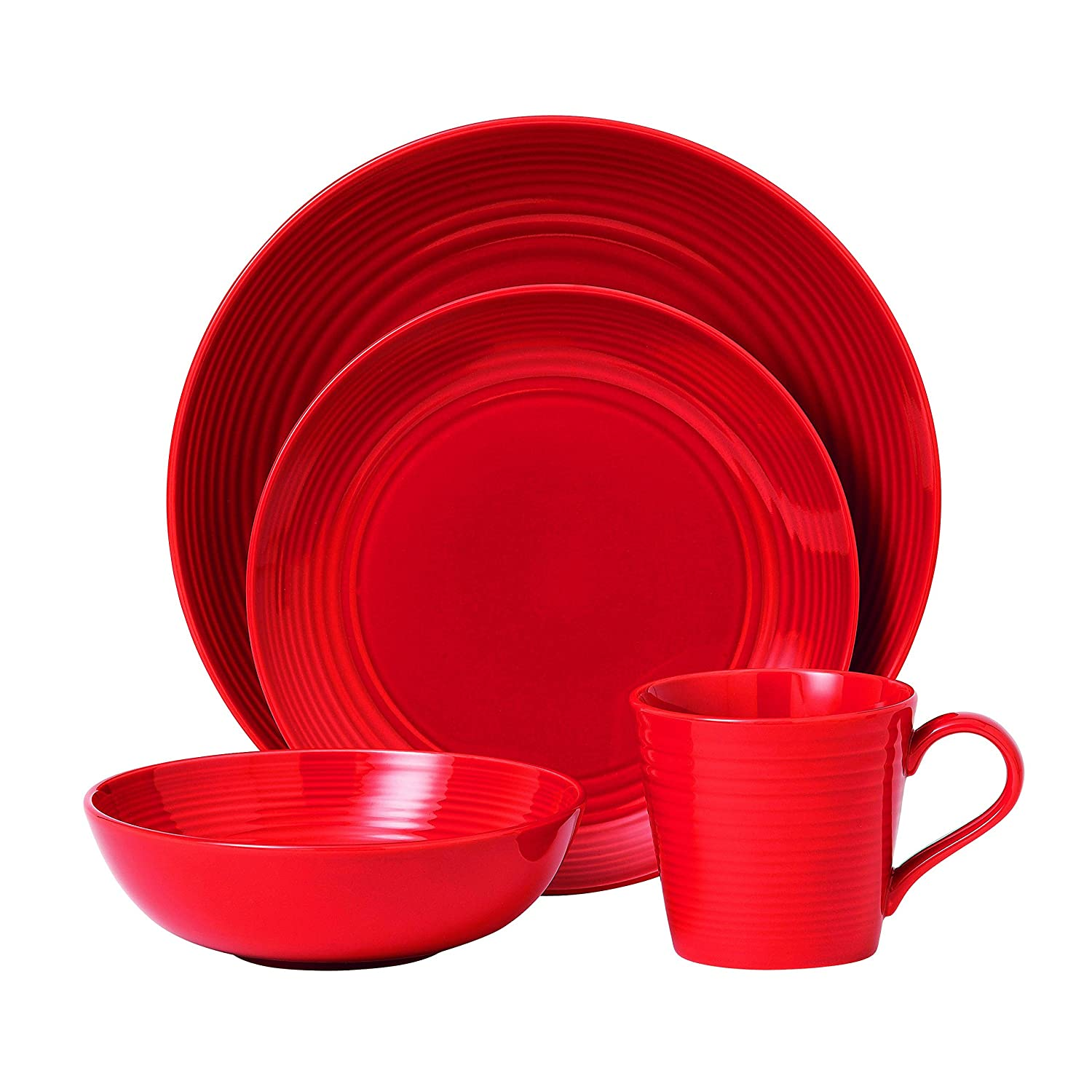 Amazon.com | Royal Doulton Gordon Ramsay Maze 4-Piece Place Setting Set Chilli Red Dinnerware Sets  sc 1 st  Amazon.com & Amazon.com | Royal Doulton Gordon Ramsay Maze 4-Piece Place Setting ...