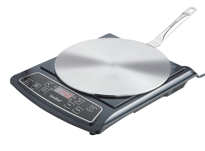 Vonshef - Difusor de calor de acero inoxidable vonshef - para cocinar en hornilla de inducción, disco convertidor para cocinar, difusor de calor, ...