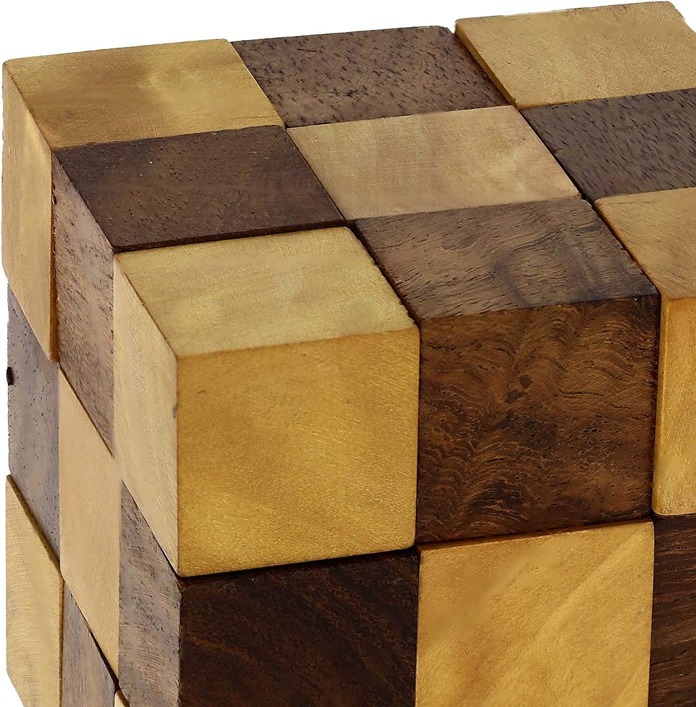JBRD TOYS Wooden Puzzle Adult Snake Cube Handmade Gifts India 2 in