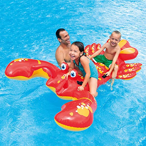 Amazon.com: Intex (Float Lobster Ride on 213 × 137cm 57528 [Japan Genuine]: Toys & Games