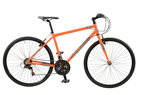 """Falcon Monza Mens' Mountain Bike Orange, 19"""" inch aluminium frame, 18 speed straight blade high performance steel fork powerful front and rear alloy v brakes"""