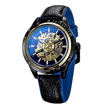Herrenuhren Mechanische Uhren Forsining Auto Mechanische Männer Uhren Top Marke Luxus Edelstahl Strap Kristall Dekoration Skeleton Zifferblatt Mode Uhr