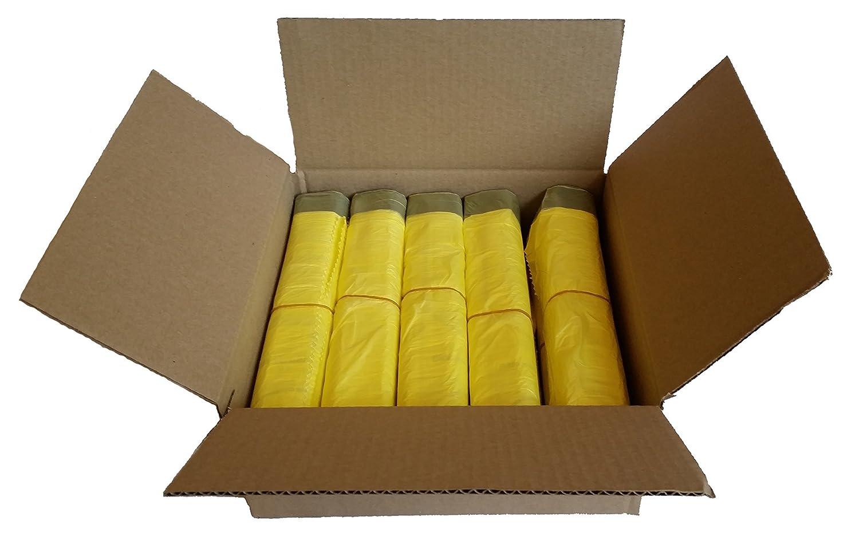Caja de bolsas amarillas de basura con 10 rollos (130 bolsas ...