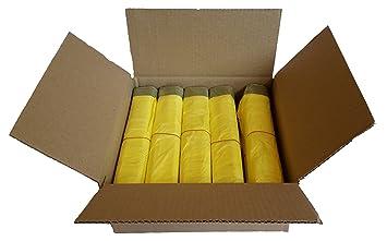 Gelbe Bilder gelber sack ein karton mit 10 rollen 130 gelbe säcke 15 µm