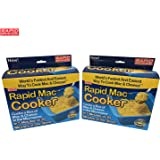 Rapid Mac Cooker 2 Pack - Microwave Boxed Macaroni and Cheese in 5 Minutes - BPA Free and Dishwasher Safe