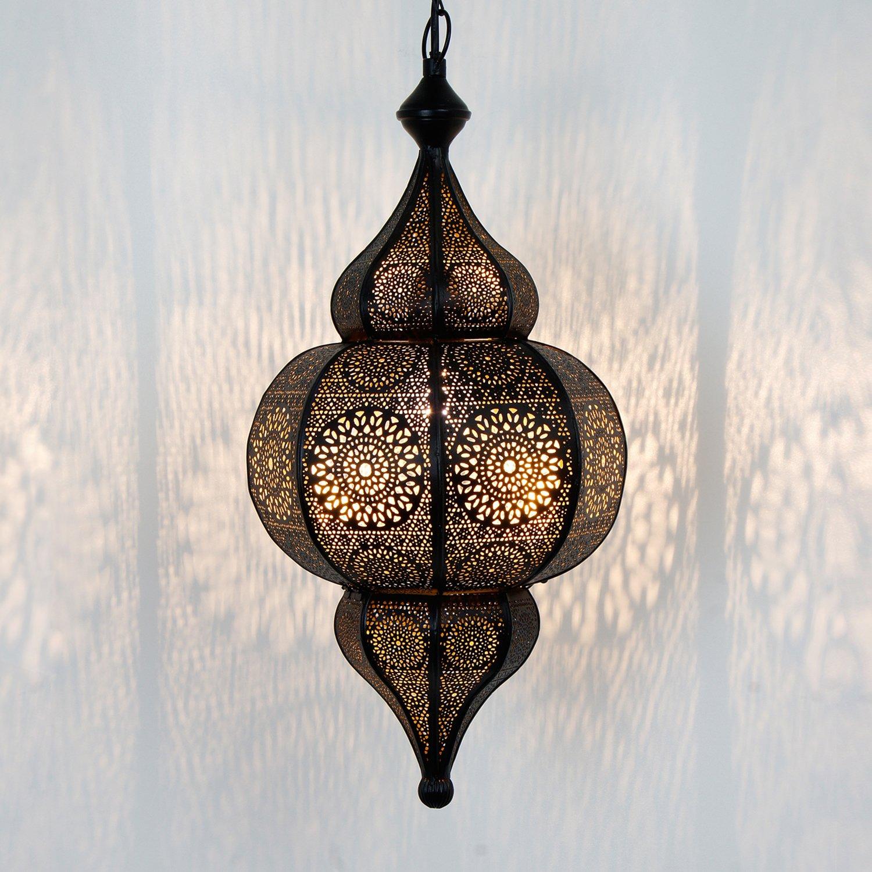 Moulouk Prachtvolle Deckenleuchte f/ür tolle Lichteffekte wie aus 1001 Nacht Orientalische Lampe marokkanische Pendelleuchte Echtes Kunsthandwerk aus Marokko H 54 cm mit E27 Fassung