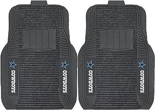 "product image for FANMATS 13497 NFL Dallas Cowboys Nylon Face Deluxe Car Mat,Black,20""x27"""