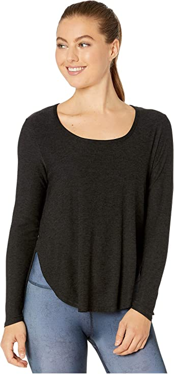 Beyond Yoga Womens Featherweight Spacedye Cut and Run Long Sleeve Pullover