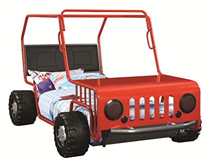 Amazon Com Coaster Casey Jeep Twin Bed In Red Kitchen Dining