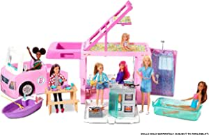 Barbie 3-in-1 Dream Camper Vehicle and Accessories Multicolor