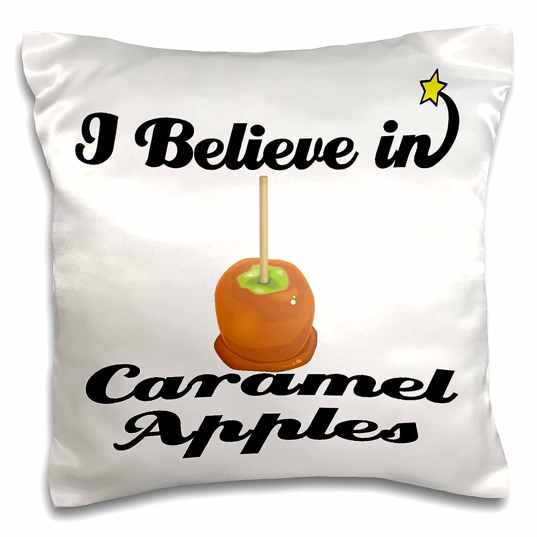 3dRose Dooni Designs I Believe in Designs - I Believe in Caramel Apples - 16x16 inch Pillow Case (pc_104945_1)