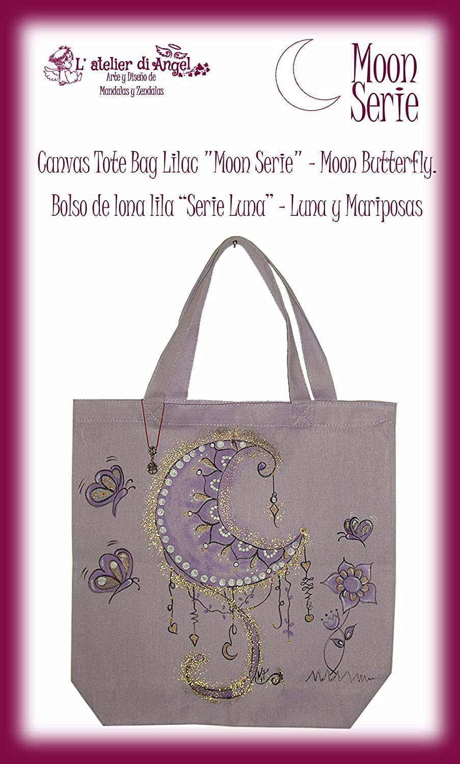Amazon.com: Canvas Tote Bag Lilac
