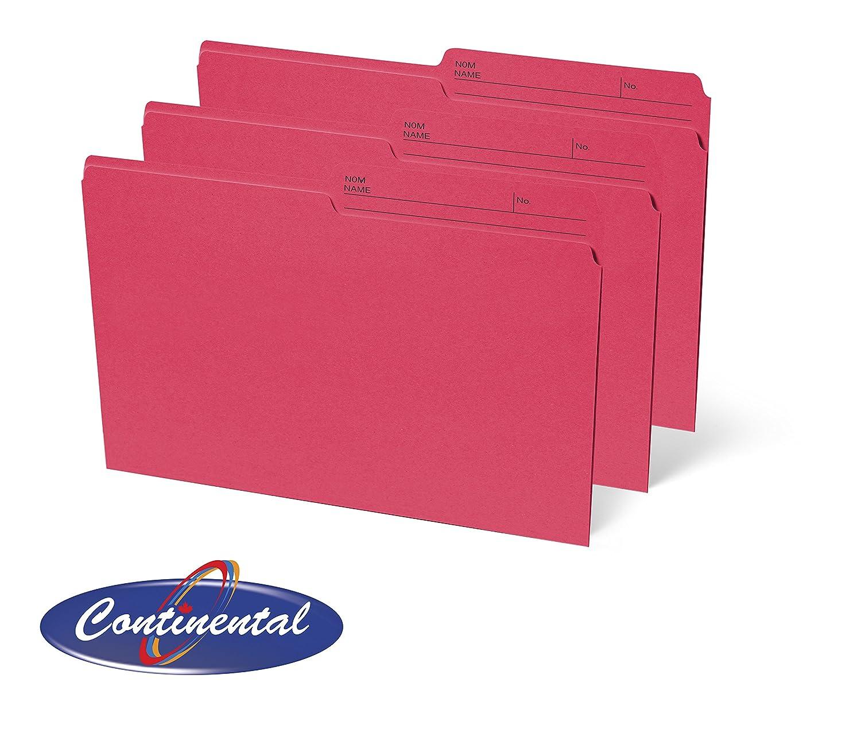 Red Legal File Folders 1/2 Cut 100 per Box