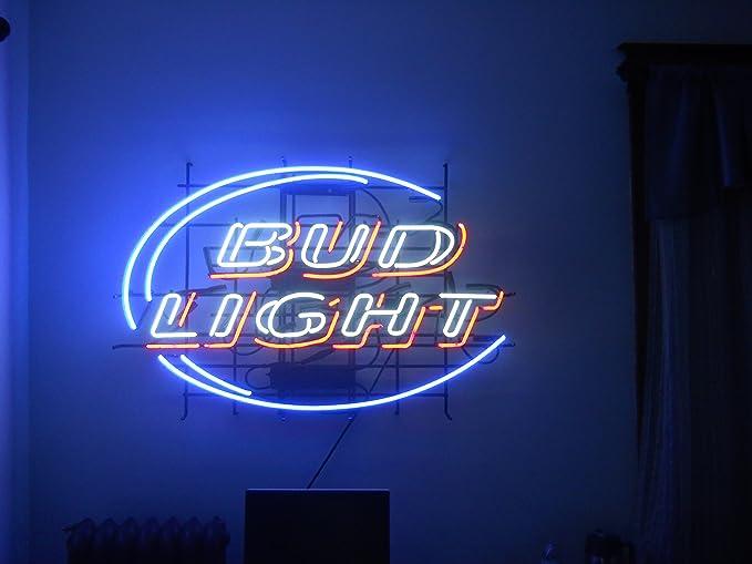 New Bud Light Hand Made Beer Bar Pub Store Garage Real Glass Neon Light Sign