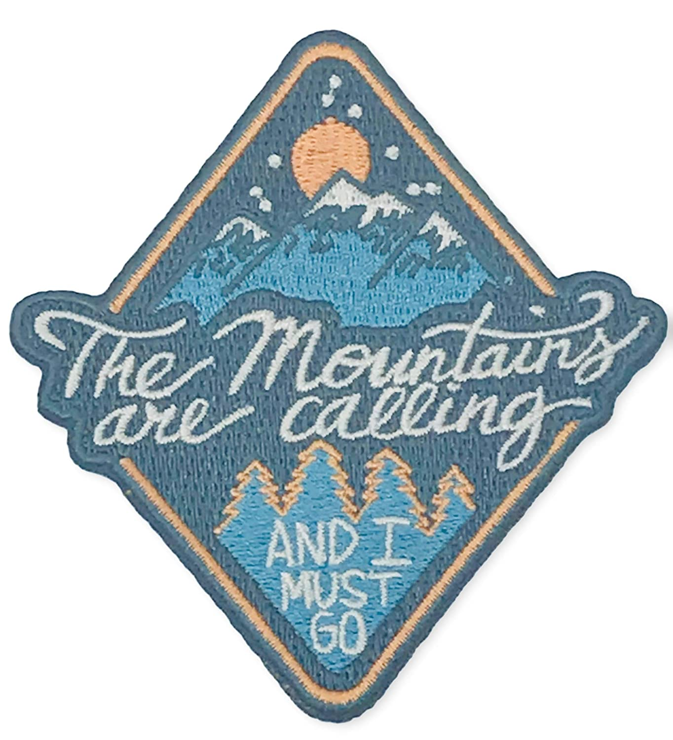 O'Houlihans - The Mountains are Calling and I Must Go Iron on Patch - Hiking, Camping, Travel, Adventure Patch O' Houlihans 4337021106