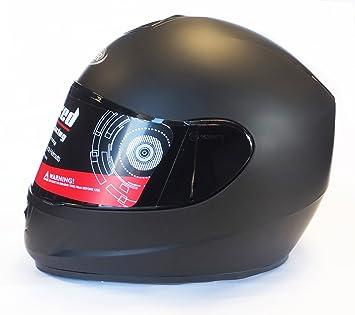Viper - Casco de moto negro mate, mujer hombre, negro