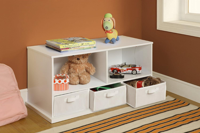 Amazon.com : Badger Basket Shelf Storage Cubby with Three Baskets ...