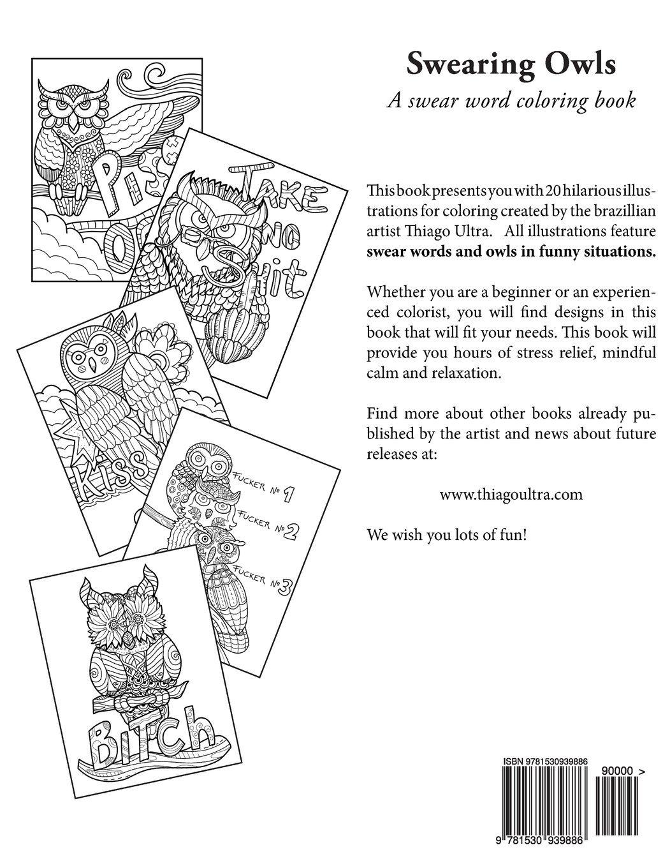 Swearing Owls Swear Word Adult Coloring Book Creative Sweary 81n2pBKEayL 1530939887