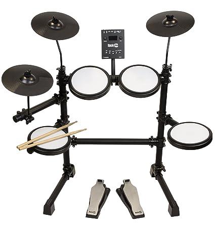 Amazon Com Rockjam Mesh Head Kit Eight Piece Electronic Drum Kit