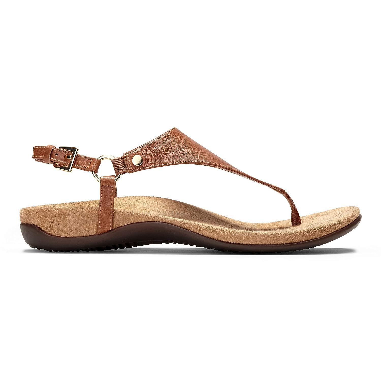 72e4e4b7e71a Vionic Womens Kirra Leather Orthotic Arch Support Sandals