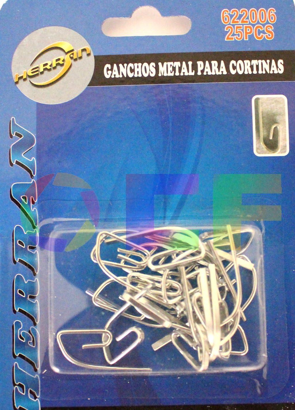 Riel Chyc 5433252 Lot de 25/crochets de rideau m/étalliques 30/mm