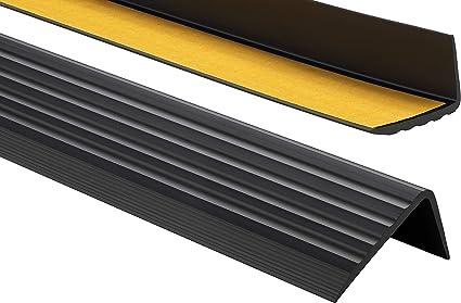 Nez de marche profil d/'angle PVC autoadh/ésif 41x25mm antid/érapant Amber descalier-protection bande de bordure 80cm