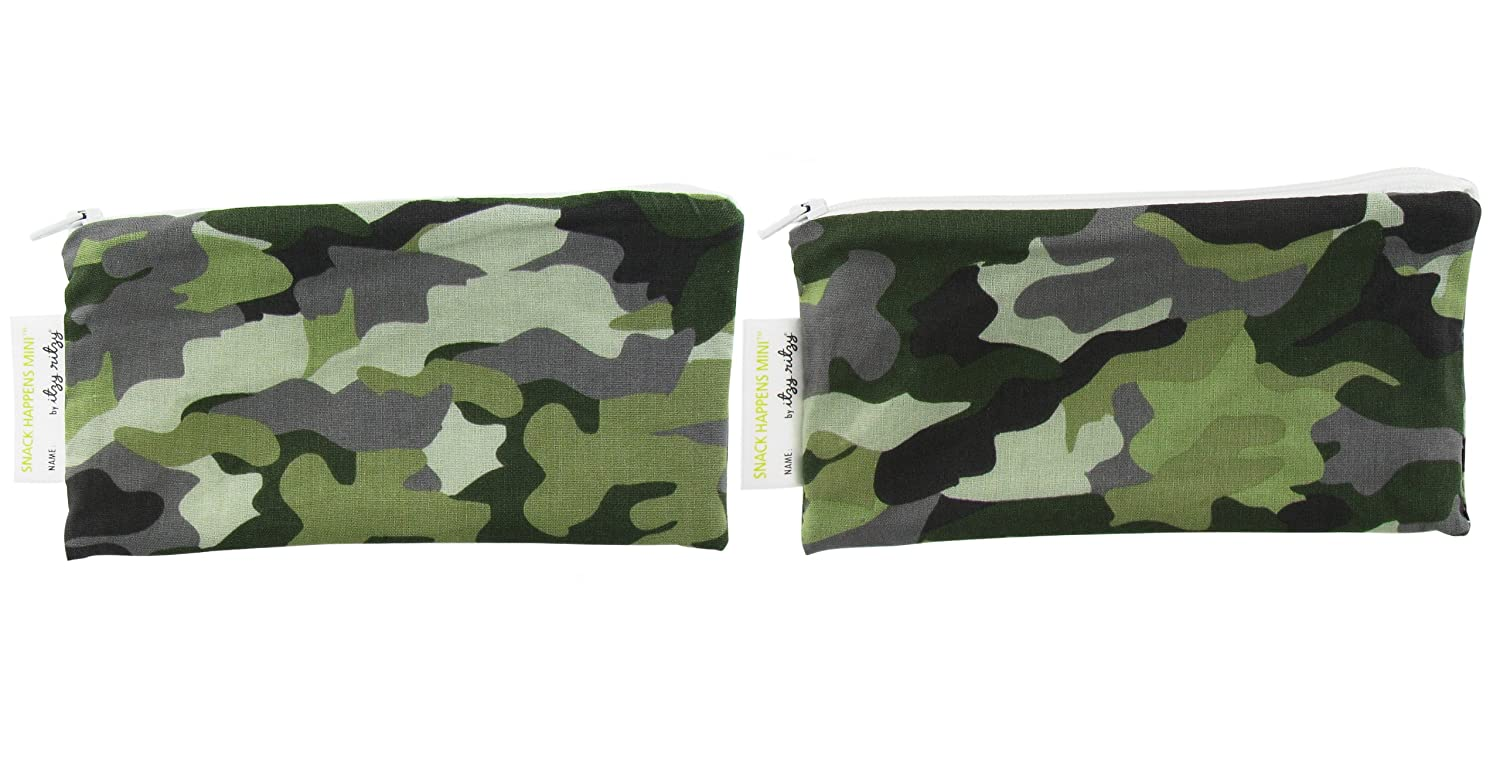 Itzy Ritzy IR-MSW8093 Snack Happens Mini Reusable Snack and Everything Bag Camo
