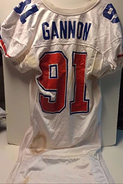 1993 Chris Gannon Game Worn New England Patriots Home Jersey NFL at