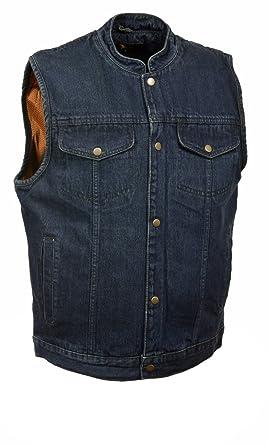 6f6f1ade5e3e45 Milwaukee Leather Men s Snap Front Denim Club Style Vest w Gun ...