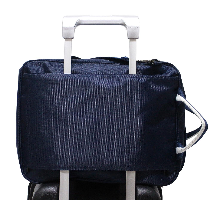 Kronya Maleta equipaje mano grande Neceser de ba/ño Funda Sport Bag Trolley Shoulder Se/ñoras se/ñoras Azul oscuro Bolsa de viaje plegable con mucho espacio de almacenamiento y correa