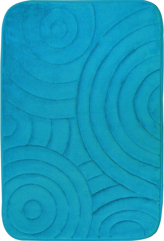 "Home Dynamix Indulgence Bliss Bath Mat, 20"" x30, Turquoise"